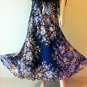 Одежда handmade. Livemaster - original item The skirt flared to the floor of pavlogoradsky scarves