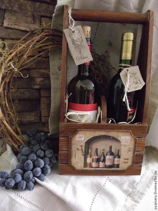 Корзины, коробы ручной работы. Ярмарка Мастеров - ручная работа. Купить Короб для вина. Handmade. Короб для вина, вино