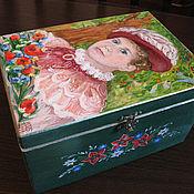 Для дома и интерьера ручной работы. Ярмарка Мастеров - ручная работа шкатулка с портретом по фото (в историческом костюме). Handmade.