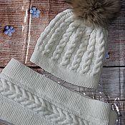 Аксессуары handmade. Livemaster - original item Winter hat and scarf. Handmade.