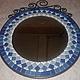 """Мозаичное зеркало """"Морской бриз"""" - оригинальный подарок родным, друзьям или себе. \r\nСерия """"Дачная коллекция"""" \r\nвариант 2"""