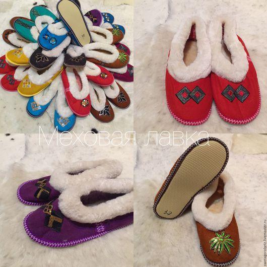 Обувь ручной работы. Ярмарка Мастеров - ручная работа. Купить Чувяки из натуральной овечьей шкуры женские.. Handmade.