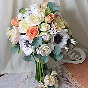 Свадебный салон ручной работы. Ярмарка Мастеров - ручная работа Свадебный букет в персиковых тоннах. Handmade.