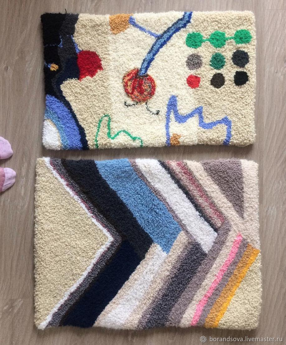 Текстиль, ковры ручной работы. Ярмарка Мастеров - ручная работа. Купить Дизайнерский ковер. Handmade. Бежевый, ковер на заказ