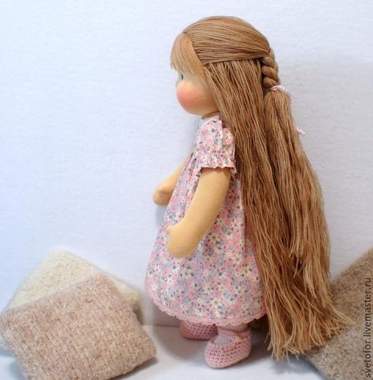 Вальдорфская игрушка ручной работы. Ярмарка Мастеров - ручная работа. Купить Куколка для Ольги, 38 см. Handmade. Бледно-розовый