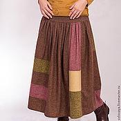 Одежда ручной работы. Ярмарка Мастеров - ручная работа Теплая шерстяная юбка со сборками на кокетке.. Handmade.