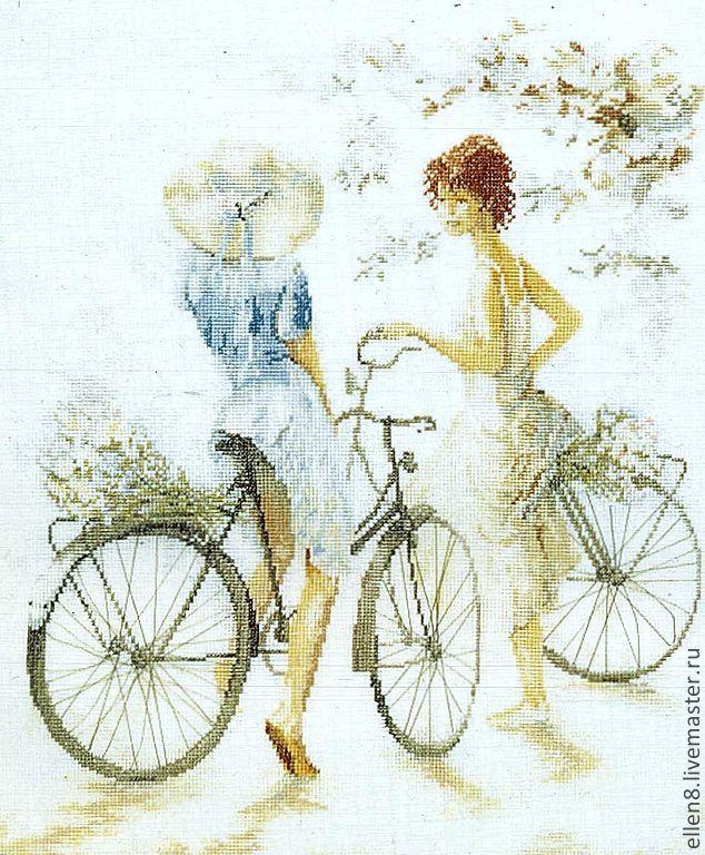 Открытки с девушкой на велосипеде, днем рождения дочери