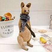 Куклы и игрушки handmade. Livemaster - original item Teddy kangaroo, 17cm. Handmade.