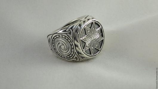 Кольца ручной работы. Ярмарка Мастеров - ручная работа. Купить Перстень Алатырь мужской оберег. Handmade. Алатырь, подарок для мужчины