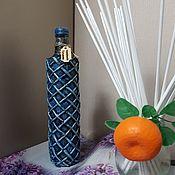 Вазы ручной работы. Ярмарка Мастеров - ручная работа Декоративная бутылка -ваза. Handmade.
