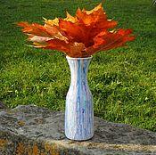 Бутылки ручной работы. Ярмарка Мастеров - ручная работа Бутылка ваза расписная. Handmade.