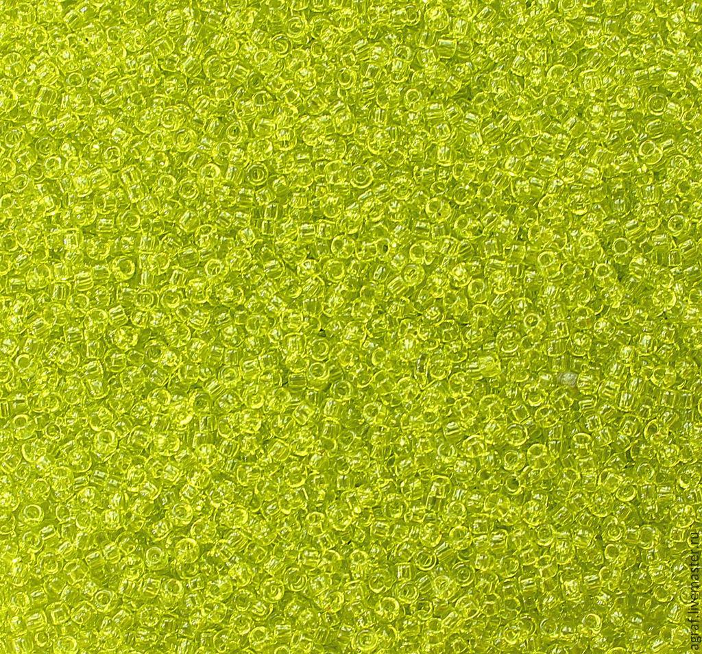 Круглый 15/0 TOHO 4 Lime Green Transparent японский бисер, Бисер, Соликамск,  Фото №1