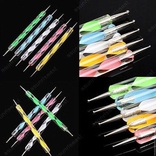 Другие виды рукоделия ручной работы. Ярмарка Мастеров - ручная работа. Купить Набор двухсторонних дотсов ( булек) для творчества. Handmade.