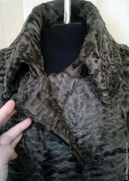 Верхняя одежда ручной работы. Ярмарка Мастеров - ручная работа. Купить Меховое пальто из каракульчи.. Handmade. Бежевый, индивидуальный пошив