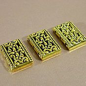 Accessories4 handmade. Livemaster - original item Separator beads on 3 strands of antique gold 18 x 12 mm, 2 PCs. Handmade.