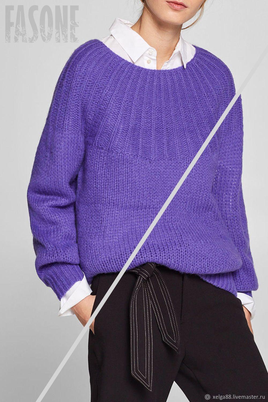 Кофты и свитера ручной работы. Ярмарка Мастеров - ручная работа. Купить Женский свитер фиолетовый 'Лиловый' Женский свитер фиолетовый. Handmade.