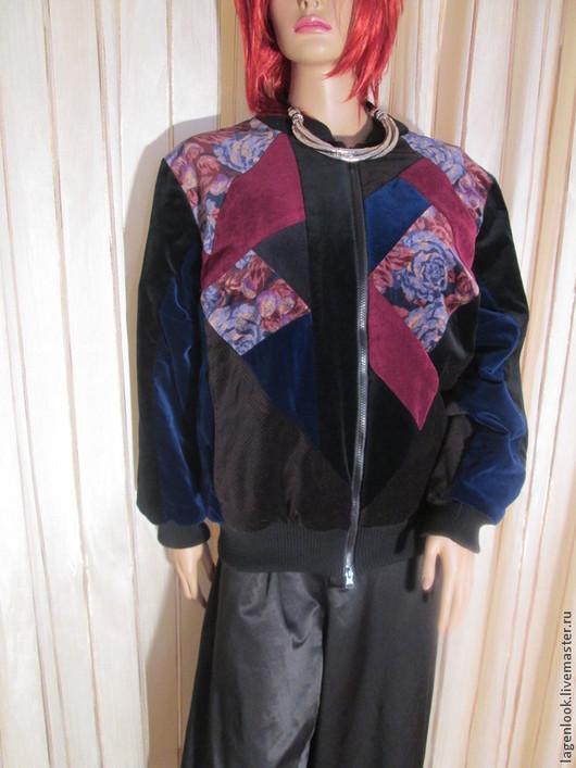 Большие размеры ручной работы. Ярмарка Мастеров - ручная работа. Купить Куртка бархатная. Handmade. Разноцветный, ручная работа