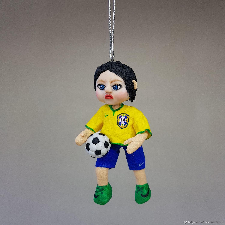 Футболист из ваты, Елочные игрушки, Домодедово,  Фото №1