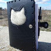 Канцелярские товары handmade. Livemaster - original item Leather notebook Seals. Handmade.