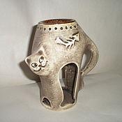 Для дома и интерьера ручной работы. Ярмарка Мастеров - ручная работа аромалампа-кошка. Handmade.