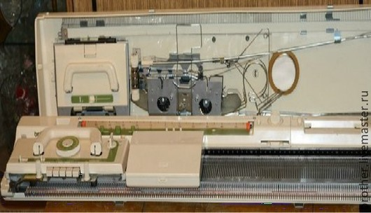 Вязание ручной работы. Ярмарка Мастеров - ручная работа. Купить Вязальная машинка Бразер KH881. Handmade. Белый, бразер, райзер
