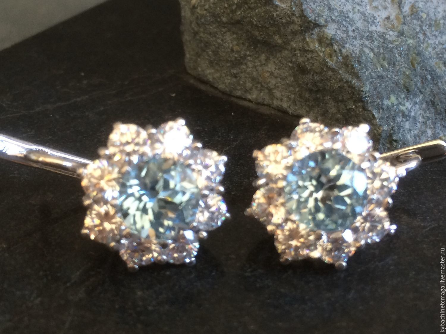 Earrings with Topaz and silver 'Kubachi', Earrings, Moscow,  Фото №1