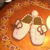 Обувь ручной работы. Ярмарка Мастеров - ручная работа Тапочки вязаные, домашние.. Handmade.