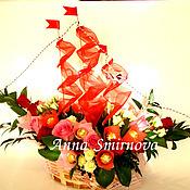 Цветы и флористика ручной работы. Ярмарка Мастеров - ручная работа Корабль из конфет. Handmade.