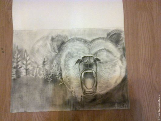 Животные ручной работы. Ярмарка Мастеров - ручная работа. Купить Медведь. Handmade. Черный, животные, рачащий медведь, масло