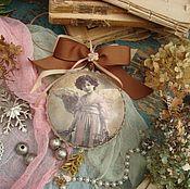 """Подарки к праздникам ручной работы. Ярмарка Мастеров - ручная работа """"Ангел мой"""" медальончик интерьерный. Handmade."""
