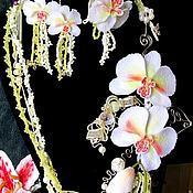 Украшения ручной работы. Ярмарка Мастеров - ручная работа колье орхидея. Handmade.