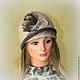 Шляпы ручной работы. Шляпка валяная Поздняя осень. Юлия Блохина           (Wool charm). Ярмарка Мастеров. Шляпа валяная, шерсть