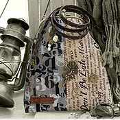Сумки и аксессуары ручной работы. Ярмарка Мастеров - ручная работа Цифро/retro/сумковО)) на фермуАре бронза сумка серый беж купить. Handmade.