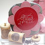 """Для дома и интерьера ручной работы. Ярмарка Мастеров - ручная работа Грелка на чайник """"Цветок"""". Handmade."""