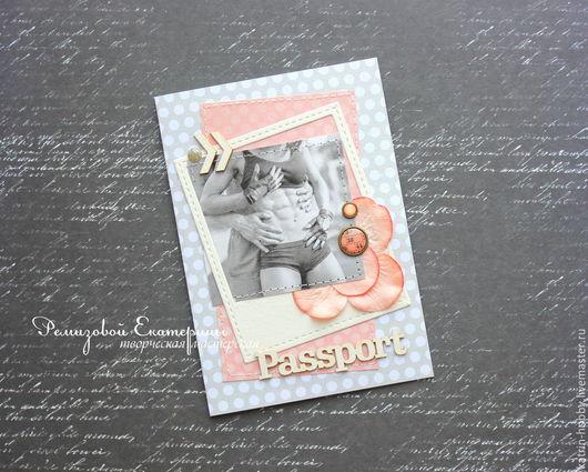 Обложки ручной работы. Ярмарка Мастеров - ручная работа. Купить Обложка для паспорта. Handmade. Серый, обложка для документов, девушка, для девушки