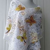 Аксессуары handmade. Livemaster - original item The flapping wings of a butterfly - Openwork scarf – stole. Handmade.