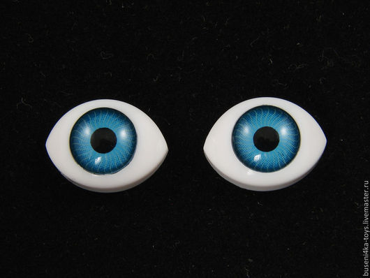 """Куклы и игрушки ручной работы. Ярмарка Мастеров - ручная работа. Купить 7х9мм Глаза кукольные (голубые) 2шт. """"5622"""". Handmade."""