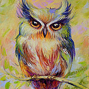 Картины и панно handmade. Livemaster - original item The picture with the owl