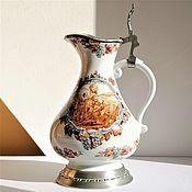 Винтаж handmade. Livemaster - original item Wine jug, porcelain, Germany.. Handmade.