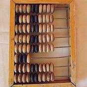 Винтаж ручной работы. Ярмарка Мастеров - ручная работа Счёты малые винтажные 1960-х. Размер 130х180 мм. Handmade.