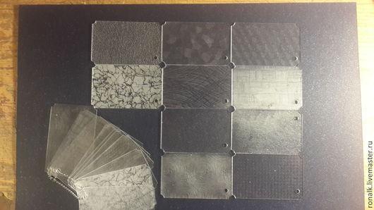 Веер с образцами прозрачного акрила, 2х сторонний рельеф. 800 рублей.