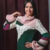 """Одежда ручной работы. Ярмарка Мастеров - ручная работа Удлиненный свитер-платье """"Баккара"""" продан. Handmade."""