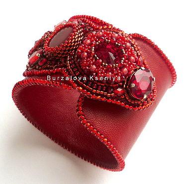 """Украшения ручной работы. Ярмарка Мастеров - ручная работа Браслет """"Red kiss"""". Handmade."""