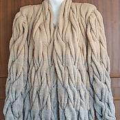Одежда ручной работы. Ярмарка Мастеров - ручная работа Кардиган вязаный косами. Handmade.