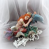 Куклы и игрушки ручной работы. Ярмарка Мастеров - ручная работа Авторская кукла Дельфин и Русалка. Handmade.