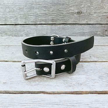 Товары для питомцев ручной работы. Ярмарка Мастеров - ручная работа Ошейник для собаки средней породы, черный, 26мм. Handmade.