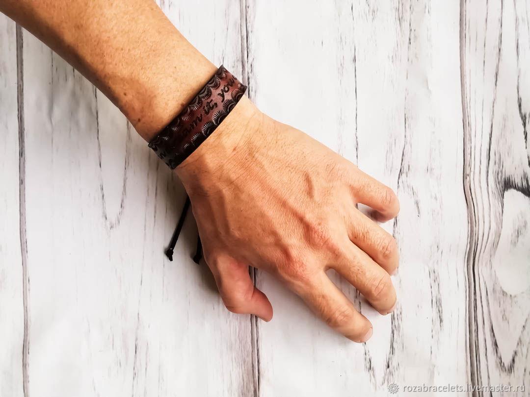 Dream it leather bracelet, Cuff bracelet, Ulyanovsk,  Фото №1