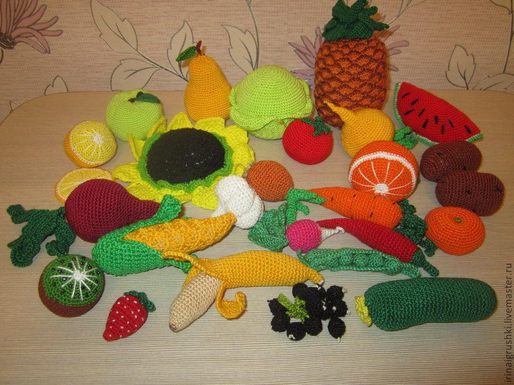 Вязание крючок вязаные фрукты 150