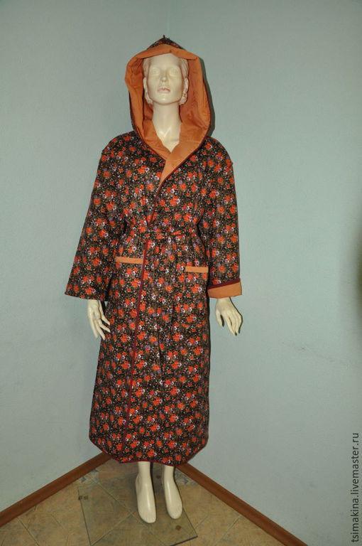 Халаты ручной работы. Ярмарка Мастеров - ручная работа. Купить Стеганный халат. Handmade. Разноцветный, баня, банные аксессуары