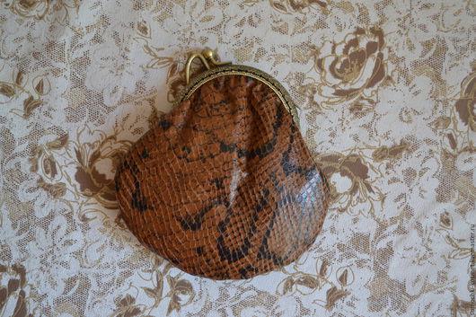 Кошельки и визитницы ручной работы. Ярмарка Мастеров - ручная работа. Купить Кошелек из натуральной кожи со змеиным принтом. Handmade.